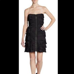 BCBGMaxazria Black Zip Front minidress NWT